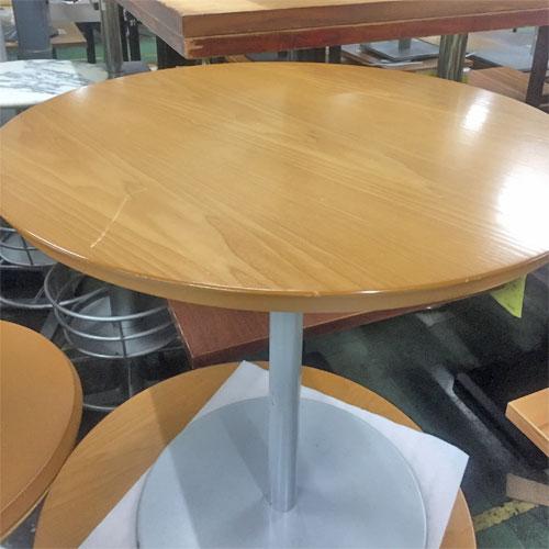 【中古】丸テーブル 幅750×奥行750×高さ700 【送料無料】【業務用】