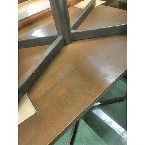 【中古】DBR十字脚洋風テーブル 幅750×奥行550×高さ700 【送料無料】【業務用】