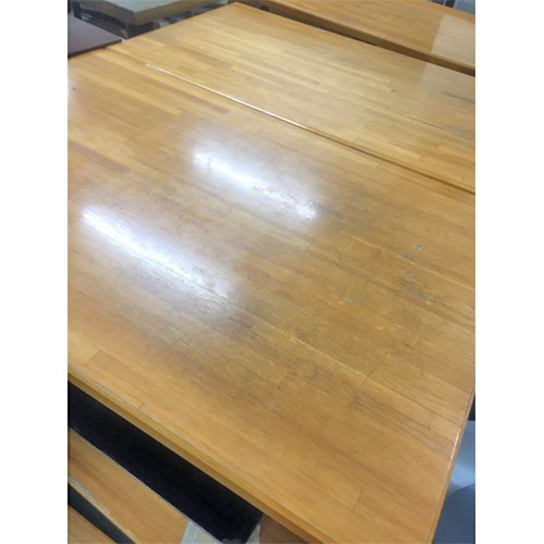 【中古】NA集成材四本脚テーブル 幅1050×奥行600×高さ700 【送料無料】【業務用】