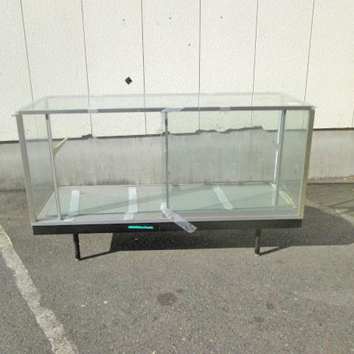 【中古】非冷ガラスショーケース 幅1515×奥行545×高さ920 【送料別途見積】【業務用】