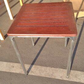 【中古】テーブル メターロ アダル 幅600×奥行600×高さ750 【送料別途見積】【未使用品】【業務用】