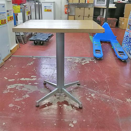 【中古】テーブル 白 幅650×奥行550×高さ720 【送料無料】【業務用】
