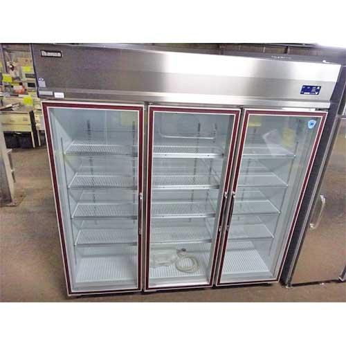 【中古】冷蔵リーチインショーケース 大和冷機 613KEP-EC 幅1800×奥行800×高さ1900 三相200V 【送料別途見積】【業務用】
