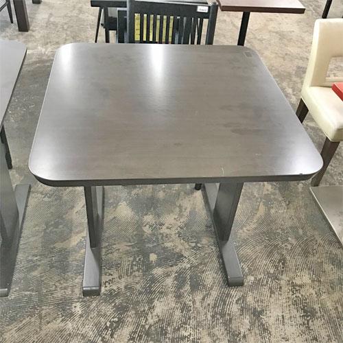 【中古】2人用テーブル 幅800×奥行800×高さ700 【送料無料】【業務用】