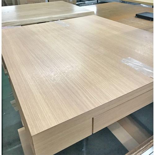 【中古】白木テーブル引出付き 幅650×奥行750×高さ730 【送料無料】【業務用】