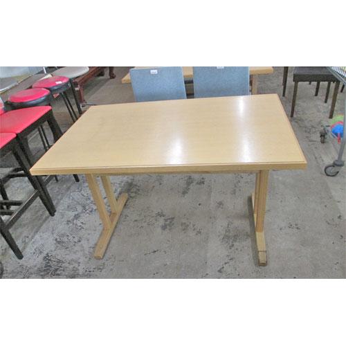 【中古】和風テーブル4人用 白木 幅1200×奥行750×高さ700 【送料別途見積】【業務用】