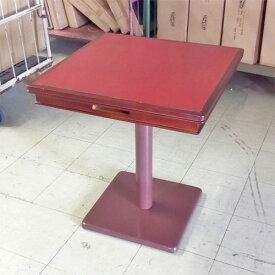 【中古】テーブル BR ワインレッド 幅650×奥行650×高さ720 【送料別途見積】【業務用】