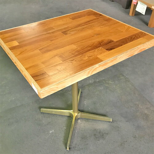 【中古】木目テーブル 幅680×奥行570×高さ710 【送料別途見積】【業務用】