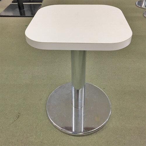 【中古】白テーブル 幅400×奥行400×高さ560 【送料別途見積】【業務用】