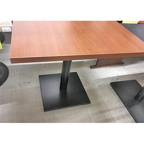 【中古】テーブル 天板メラミン うす茶 幅750×奥行750×高さ700 【送料別途見積】【業務用】