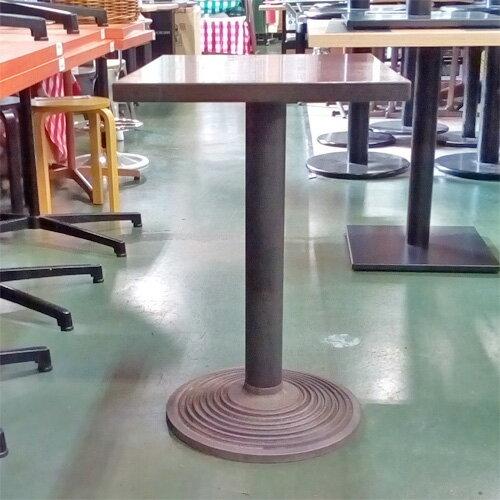 【中古】テーブル BR 脚丸ベース 幅450×奥行600×高さ710 【送料無料】【業務用】