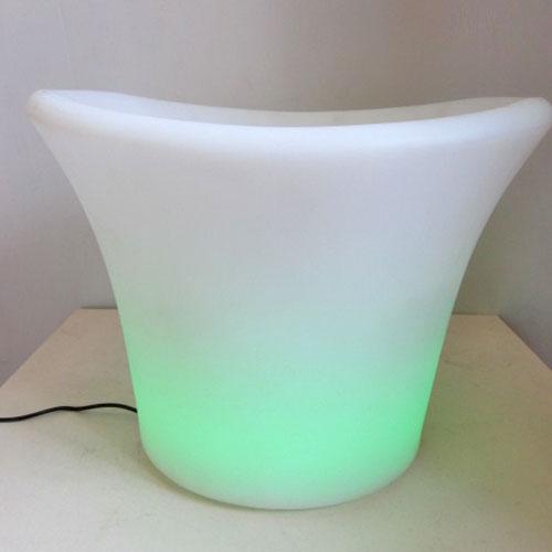 【中古】LEDプランター 幅370×奥行320×高さ270 【送料別途見積】【業務用】