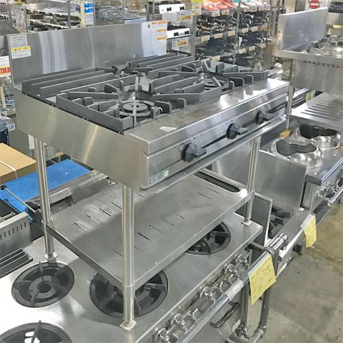 【中古】3口ガステーブル タニコー TSGT-0921A 幅900×奥行750×高さ800 LPG(プロパンガス) 【送料別途見積】【業務用】
