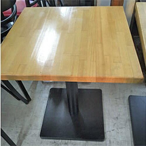 【中古】洋風テーブル 2人用 幅600×奥行600×高さ710 【送料別途見積】【業務用】