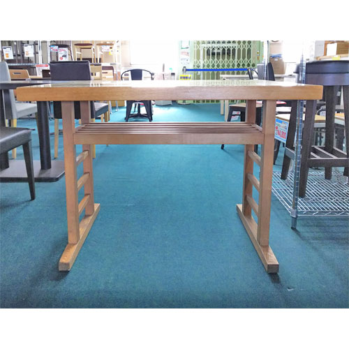 【中古】和風白木テーブル 幅1000×奥行700×高さ720 【送料無料】【業務用】