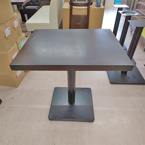 【中古】2人用集成材テーブル 幅600×奥行700×高さ700 【送料無料】【業務用】