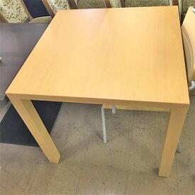 【中古】エスト テーブル(ナチュラル) アダル 幅800×奥行800×高さ720 【送料無料】【業務用】