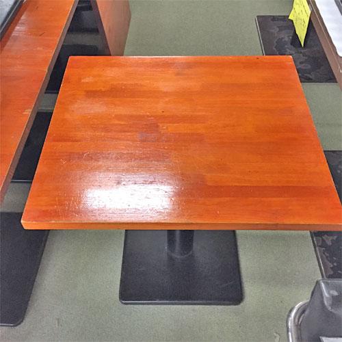 【中古】赤茶テーブル 幅700×奥行600×高さ700 【送料別途見積】【業務用】