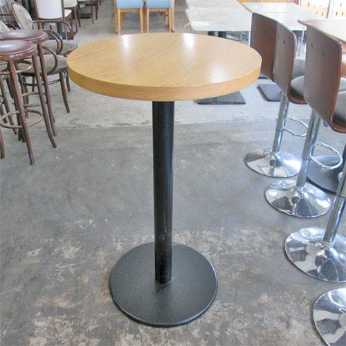 【中古】白木丸ハイテーブル 幅φ600×高さ1040 【送料無料】【業務用】