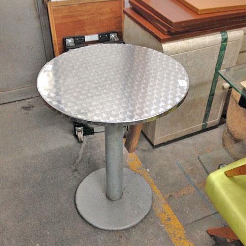 【中古】丸カウンターテーブル 幅700×奥行700×高さ910 【送料別途見積】【業務用】