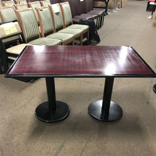 【中古】テーブル エンジ 幅1200×奥行750×高さ650 【送料別途見積】【業務用】
