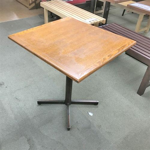 【中古】2人掛けテーブル 幅650×奥行700×高さ720 【送料別途見積】【業務用】