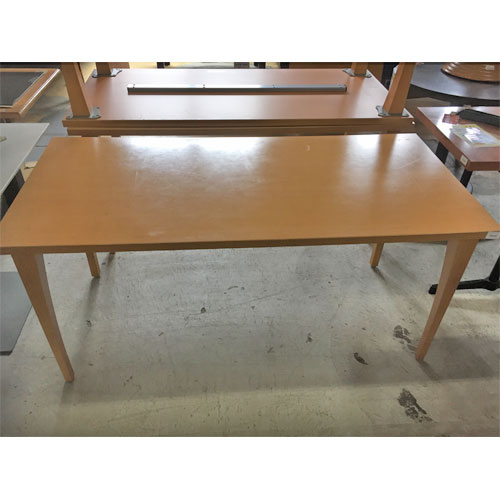【中古】洋風テーブル 4本脚 LB 幅1500×奥行700×高さ700 【送料別途見積】【業務用】