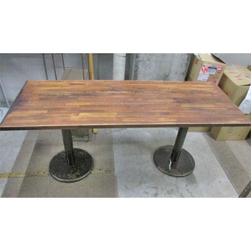 【中古】木製テーブル 幅1600×奥行605×高さ700 【送料無料】【業務用】