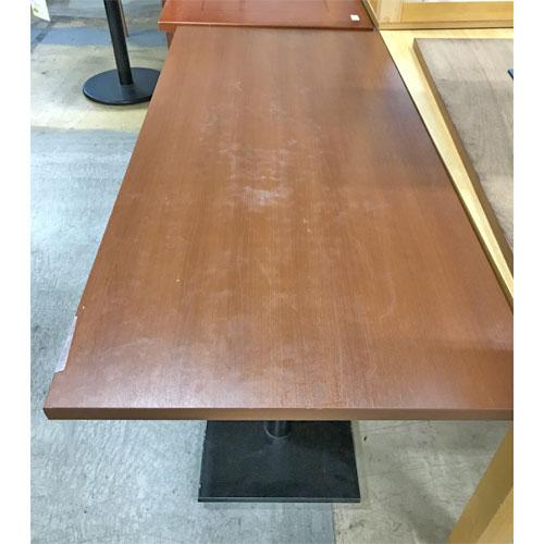 【中古】テーブル 天茶脚黒 幅1500×奥行700×高さ720 【送料別途見積】【業務用】