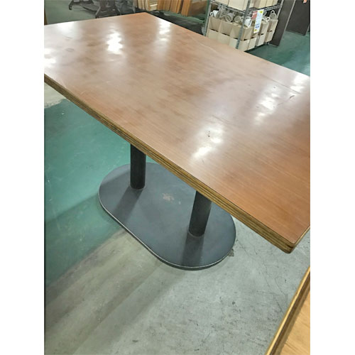 【中古】テーブル 天茶脚黒 幅1200×奥行750×高さ700 【送料別途見積】【業務用】