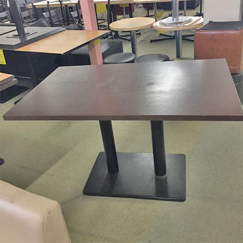 【中古】洋風テーブル 茶 幅1200×奥行750×高さ710 【送料別途見積】【業務用】
