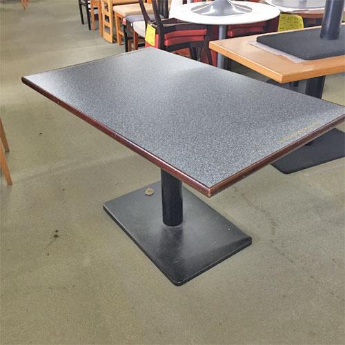 【中古】テーブル石目4人用 幅1200×奥行750×高さ700 【送料別途見積】【業務用】