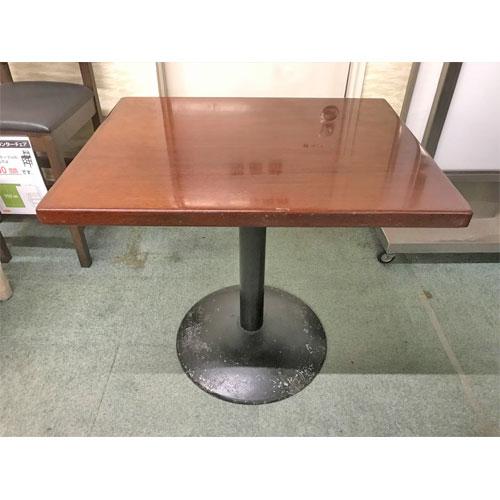 【中古】2人用洋風テーブル 幅770×奥行620×高さ700 【送料別途見積】【業務用】