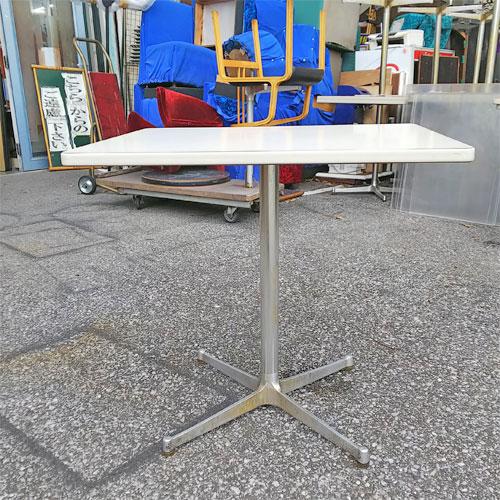 【中古】テーブル 白 幅750×奥行600×高さ700 【送料無料】【業務用】