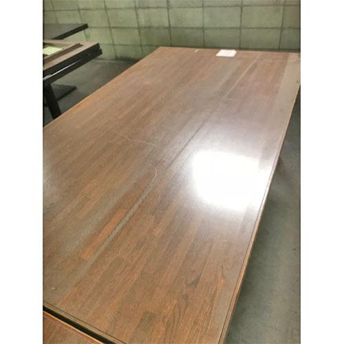【中古】テーブルブラウン 幅1600×奥行900×高さ660 【送料別途見積】【業務用】