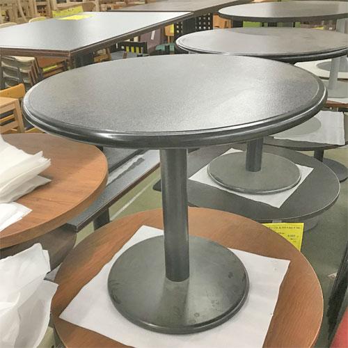 【中古】丸テーブル 幅750×奥行750×高さ650 【送料別途見積】【業務用】