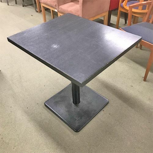 【中古】黒テーブル 幅600×奥行700×高さ700 【送料別途見積】【業務用】