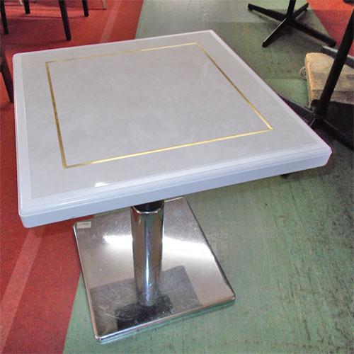 【中古】スナックテーブル 幅500×奥行500×高さ590 【送料別途見積】【業務用】