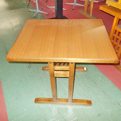 【中古】和風テーブル 幅750×奥行600×高さ700 【送料別途見積】【業務用】