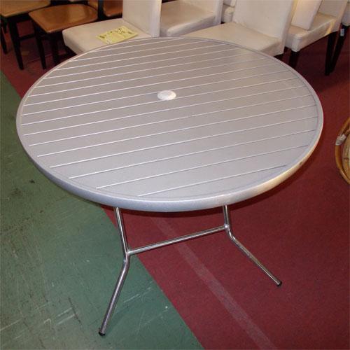 【中古】丸テラステーブル 幅900×高さ720 【送料別途見積】【業務用】
