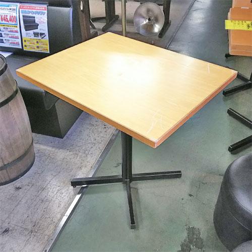 【中古】テーブル 薄茶 幅600×奥行750×高さ720 【送料無料】【業務用】