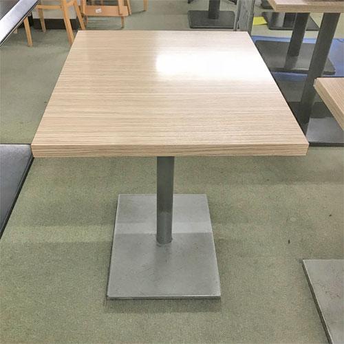 【中古】2人用テーブル シルバー角ベース 幅550×奥行700×高さ730 【送料別途見積】【業務用】