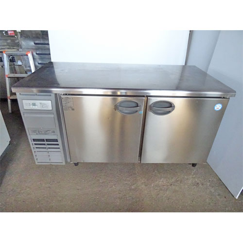 【中古】冷凍冷蔵コールドテーブル 福島工業(フクシマ) YRW-151PM2 幅1500×奥行750×高さ800 【送料別途見積】【業務用】