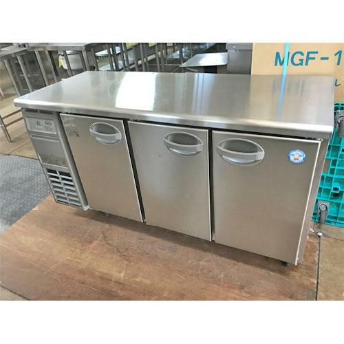 【中古】冷蔵コールドテーブル 福島工業(フクシマ) AYC-150RM-E 幅1500×奥行600×高さ800 【送料別途見積】【業務用】