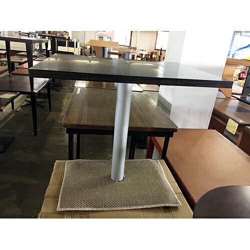 【中古】テーブル 足マット付き 幅600×奥行750×高さ710 【送料無料】【業務用】
