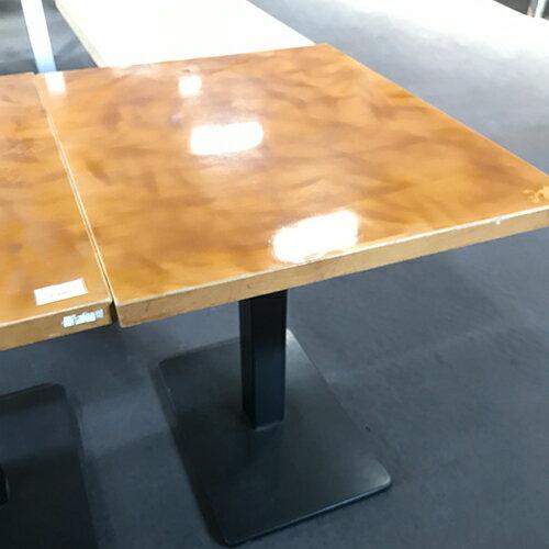 【中古】キャラメルテーブル 幅600×奥行750×高さ700 【送料別途見積】【業務用】