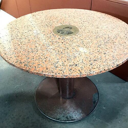 【中古】大理石テーブル 幅900×奥行900×高さ665 【送料別途見積】【業務用】