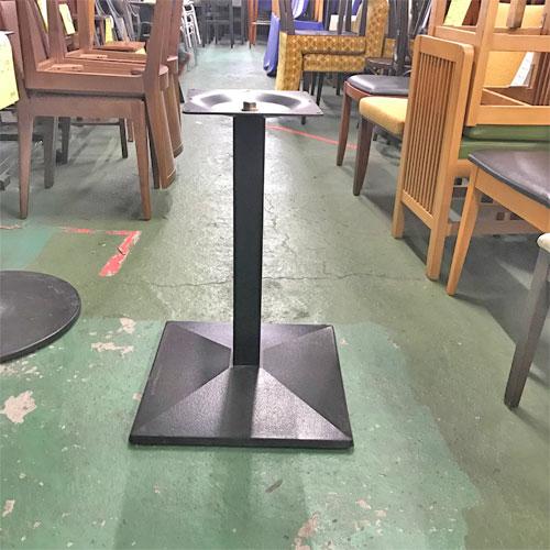 【中古】テーブルレッグ(角ベース)黒 幅450×奥行450×高さ640 【送料別途見積】【業務用】