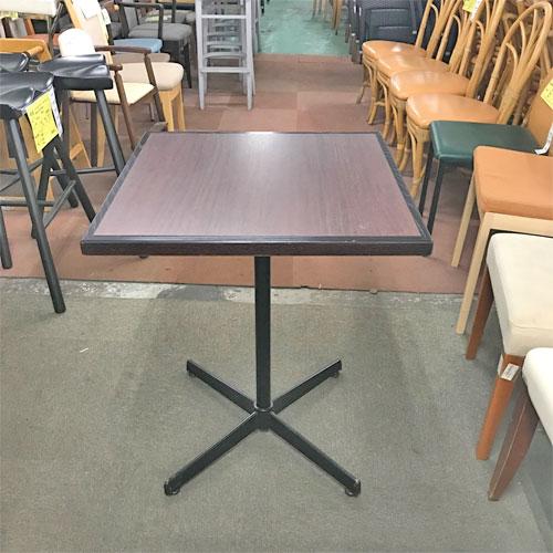 【中古】2名掛けテーブル 幅600×奥行600×高さ720 【送料別途見積】【業務用】