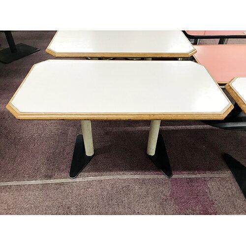 【中古】ローテーブル 白 幅1050×奥行550×高さ600 【送料別途見積】【業務用】